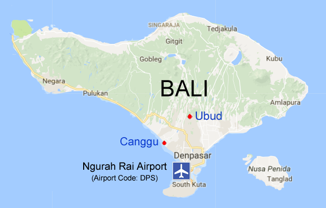 bali map yoga training