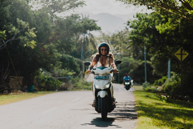 scooter ride in bali