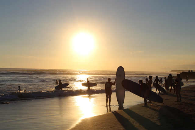 Bali Sunset and Surfing