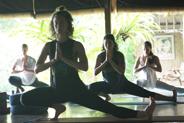 Side Lunge Yoga Pose in Bali