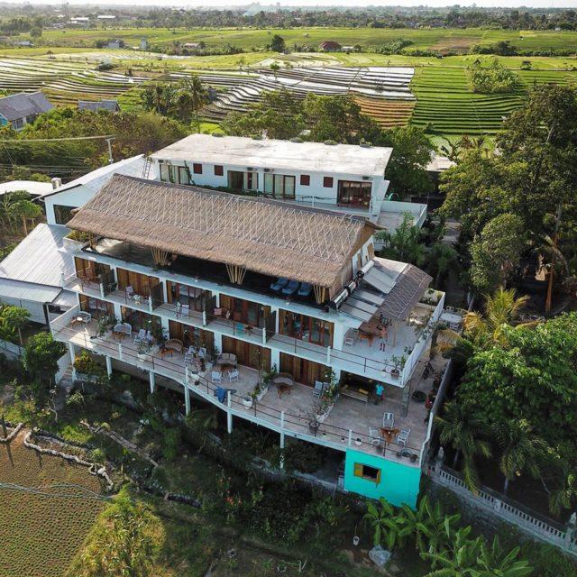Drone Image Villa Lotus Canggu